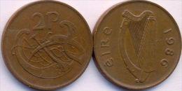 Ireland 2 Pence 1986 AXF - Irlande