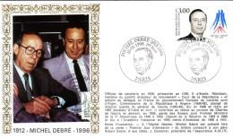 Enveloppe  1er  Jour    Michel  DEBRE   1998 - 1990-1999
