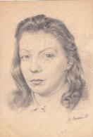 Frauenportrait - Unbekannt - Zeichnungen