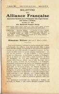 DC824-1916 BOLLETTINO Dell'ALLIANCE FRANCAISE-NOTIZIE DAI FRONTI DI GUERRA-16 PAGINE - Documenti Storici