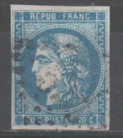 Emission De Bordeaux N° 46B  Avec Oblitération Losange  TTB - 1870 Bordeaux Printing