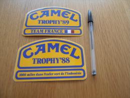 Autocollant - CAMEL TROPHY 89 & 88 - Rallye X2 - Voitures (Courses)