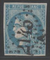 Emission De Bordeaux (Variété) N° 46B  Avec Oblitération Losange 2145, Voir Etat. - 1870 Emission De Bordeaux