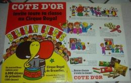 PUB PUBLICITE STRIP CHOCOLAT COTE D OR BELGIAN CIRCUS ROYAL DE BRUXELLES - Vieux Papiers