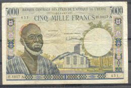 West African States A Ivory Coast   5000 Fr   Rare  VF - Billets