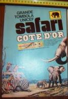 PUB PUBLICITE STRIP CHOCOLAT COTE D OR SAFARI GRANDE TOMBOLA UNICEF - Vieux Papiers