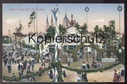 ALTE POSTKARTE MÜNCHEN GRUSS VON DER FESTWIESE OKTOBERFEST UNION-BRÄU MÜNCHNER KINDL Beer Bier Munich Muenchen - Muenchen