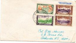 Cook Islands 1952 Registered Cover To USA - Cookeilanden
