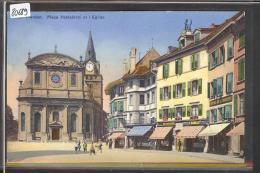 DISTRICT D´YVERDON /// YVERDON - PLACE PESTALOZZI - CARTE CIRCULEE AVEC TIMBRE - TB - VD Vaud