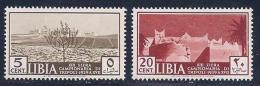 Libia, Scott # 83-4 Mint Hinged Sample Fair, Tripoli, 1939 - Libya