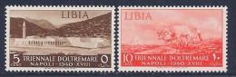Libia, Scott # 88-9 Mint Hinged Modern City, Oxen & Plow, 1940 - Libya
