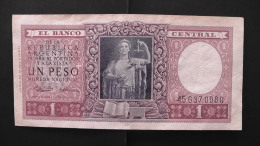 Argentinia - 1 Peso - 1956 - P 263a - VF - Look Scan - Argentinien