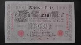 Germany 1.000 Mark 1910-04-21 - P44b/1 - 7 Digit Serial#  - Underprint S - Serie A - VF+ - Look Scans - [ 2] 1871-1918 : German Empire
