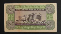 Greece - 20 Drachma - 1940 - P 315 - VF - Look Scan - Griechenland