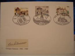 GEORGES SIMENON : EMISSION COMMUNE  FRANCE/BELGIQUE/SUISSE . PREMIER JOUR 15.10.1994 - Emissioni Congiunte