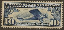 USA 1927 10c Air Transatlantic SG A646 HM #AL446 - Air Mail