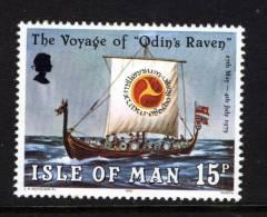 GB ISLE OF MAN IOM - 1979 VOYAGE OF ODIN'S RAVEN SHIP FINE MNH ** SG 158 - Ships