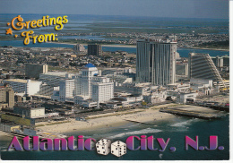 Atlantic City, New Jersey - Magnificent Aerial View Of Resorts International And The Trump Taj Mahal - Atlantic City