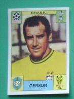 GERSON BRASIL MEXICO 1970 #37 PANINI FIFA WORLD CUP STORY STICKER SOCCER FUSSBALL FOOTBALL - Panini