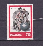 V] Timbre ** Stamp Rwanda Norman Rockwell Cirque Circus - Zirkus