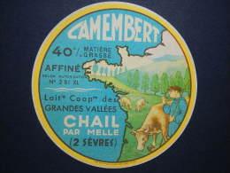 79026 - étiquette De Fromage - Camembert De CHAIL - Deux-Sèvres - Autres Collections