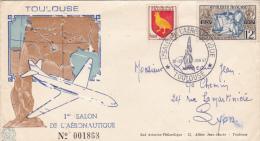 TOULOUSE  SALON DE L'AERONAUTIQUE  1957 TIRAGE 2000 - Avions