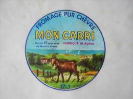 TGE17048 - étiquette De Fromage De Chèvre MON CABRI - Fromagerie D´AIGREFEUILLE- Charente-Maritime 17J - Kaas