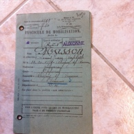 Fascicule De Mobilisation - Bureau De Recrutement : Auxonne - 27 Décembre 1927 - Dokumente