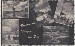 Groeten Uit Bergen Aan Zee  - Multiview Met Damlamdermolen  (Noord-Holland - Nederland) - Molen / Mill / Moulin / Mühle - Pays-Bas