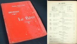 Partition Reliée De L'opéra « Le Rêve » D'Alfred Bruneau - Opern