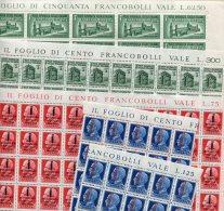 1944- ITALIA-R.S.I.- 9 VAL.M.N.H..IN FOGLI O Blocchi Da 100  O 50. - 4. 1944-45 Repubblica Sociale