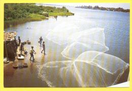 CPM  BÉNIN  -  GANVIÉ  -  Lac Nokoué  ( Animée ) - Benin