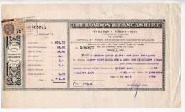 Compagnie D'Assurances (Compgnie Lilited) De London - The London And Lancashire Insurance - 1934 - Royaume-Uni