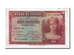 [#153827] Espagne, 10 Pesetas Type Silver Certificates - [ 2] 1931-1936 : République