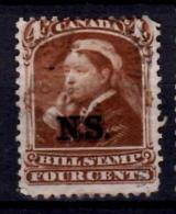 Nova Scotia 1868 4 Cent  Queen Victoria Issue #NSB5 - Usati