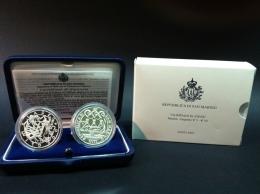 SAN MARINO - NUMISMATICA - 2003 - 5 + 10€ Olimpiadi Atene 2004 FS San Marino - Tiratura 70.000 - San Marino