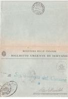 1941 BIGLIETTO URGENTE DI SERVIZIO CON ANNULLO CASTELLINALDO CUNEO - 1900-44 Vittorio Emanuele III