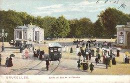 Cpa/pk 1905 Bruxelles Brussel Entrée Du Bois De La Cambre Couleur Kleur - Bossen, Parken, Tuinen