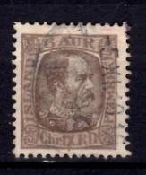 Iceland 1902 6a King Christian IX Issue #37 - Oblitérés