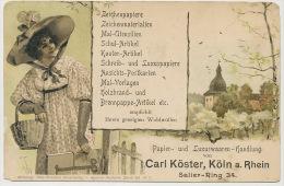 Koeln Koln Cologne 1901 Advert Carl Koster Postkarten Postcards Aquarell Theo Stroefers Serie 45 No 2 - Koeln
