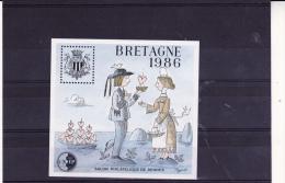BLOC FEUILLET CNEP N° 7 -BRETAGNE -1986-   - COTE : 9 €