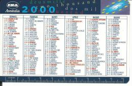 CAL589 - CALENDARIETTO 2000 - INA ASSICURAZIONI - Formato Piccolo : 1991-00