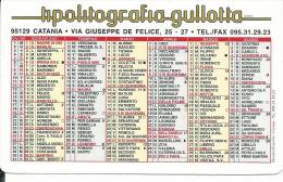 CAL593 - CALENDARIETTO 2000 - TIPOLITOGRAFIA GULLOTTA - CATANIA - Calendari