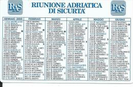 CAL595 - CALENDARIETTO 2000 - RAS - RIUNIONE ADRIATICA DI SICURTA´ - Formato Piccolo : 1991-00