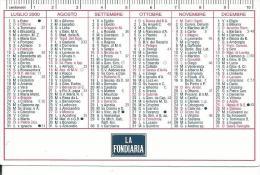 CAL596 - CALENDARIETTO 2000 - LA FONDIARIA - Calendari