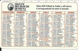 CAL598 - CALENDARIETTO 2000 - MONTE DEI PASCHI DI SIENA - Calendari