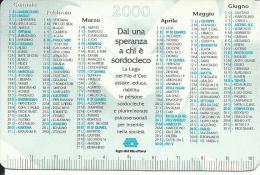 CAL601 - CALENDARIETTO 2000 - LEGA DEL FILO D´ORO - Formato Piccolo : 1991-00