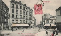 Carte Postale Ancienne PARIS :  Rue De Romainville - Arrondissement: 19