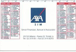 CAL604 - CALENDARIETTO 2000 - AXA - SERVIZI FINANZIARI, BANCARI E ASSICURATIVI - Formato Piccolo : 1991-00
