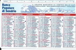 CAL605 - CALENDARIETTO 2000 - BANCA POPOLARE DI SONDRIO - Formato Piccolo : 1991-00